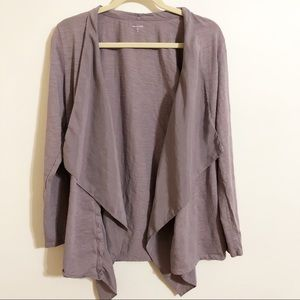 Garnet Hill / dusty purple cardigan / size medium